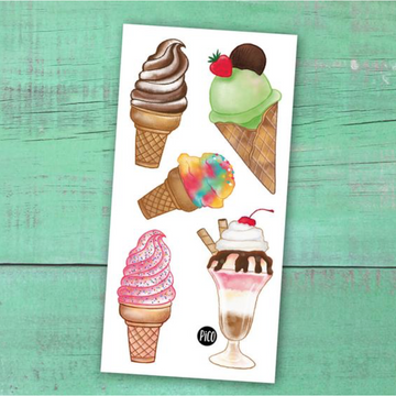 Temporary Tattoos | Ice Cream Cones