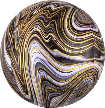 Black Marbled Orbz Balloon