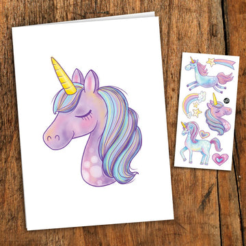 Unicorn Card with Tattoo