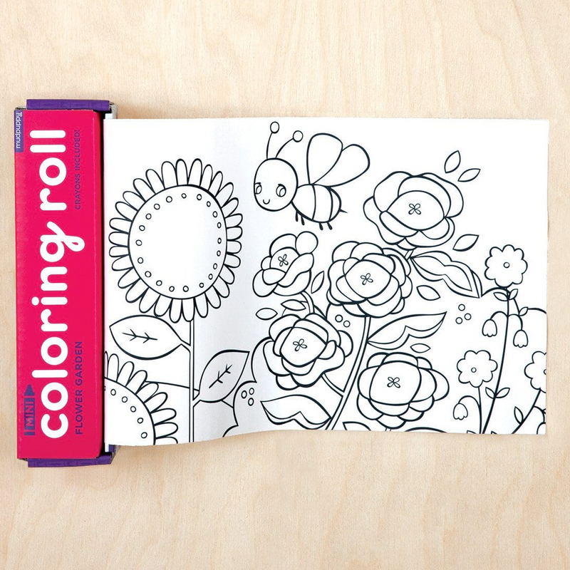 Mini Colouring Roll - Flower Garden