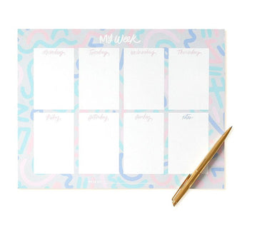 Confetti Doodle Weekly List Notepad