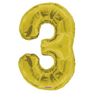 Jumbo Foil Balloon - Number 3