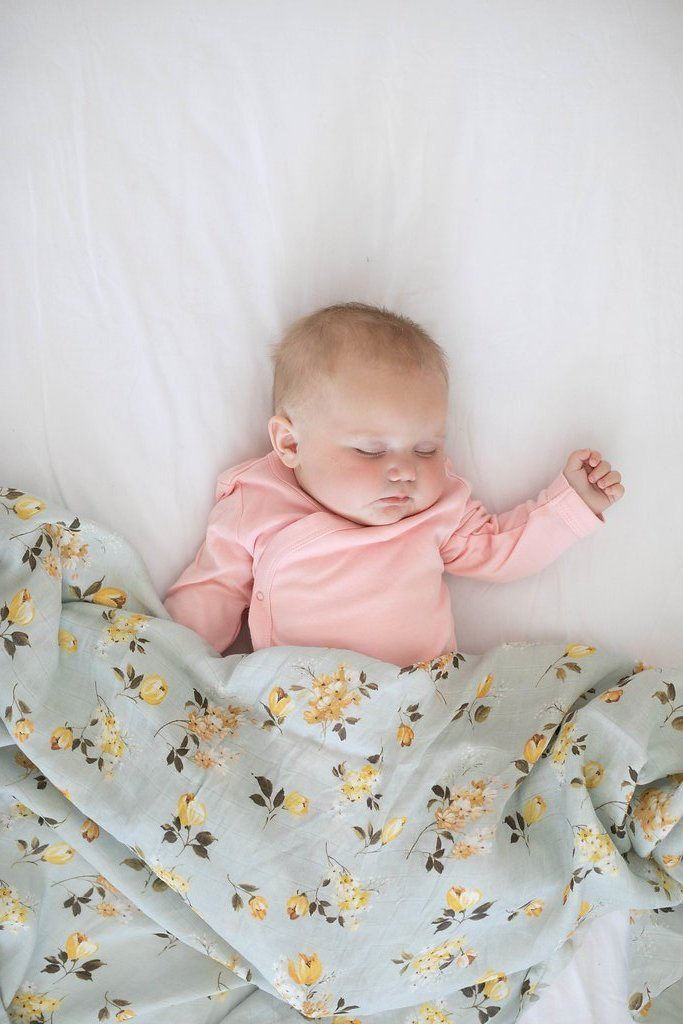 Luxe Muslin Swaddle Blanket - Wild Rose
