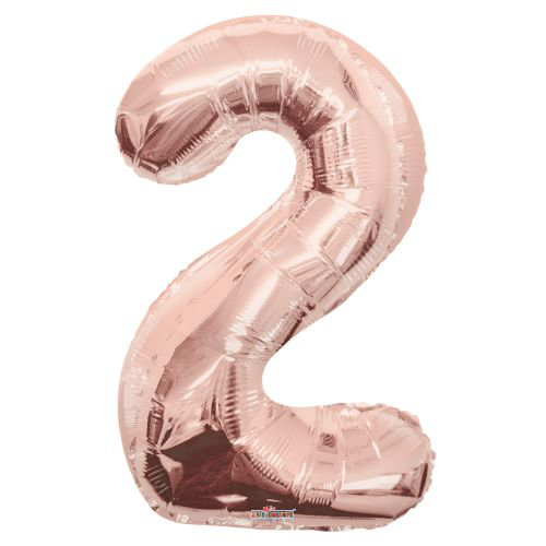 Jumbo Foil Balloon - Number 2
