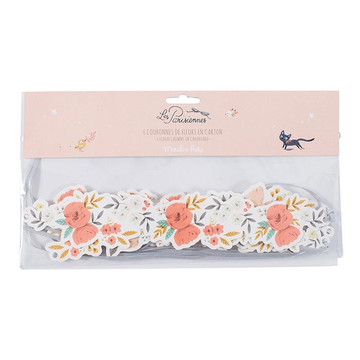 Parisiennes Cardboard Floral Crowns (Set of 6)