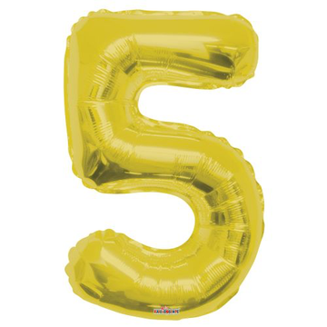 Jumbo Foil Balloon - Number 5