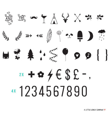 Lightbox Letter Set | Numbers & Symbols