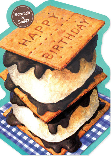 Scratch & Sniff S'mores Greeting Card