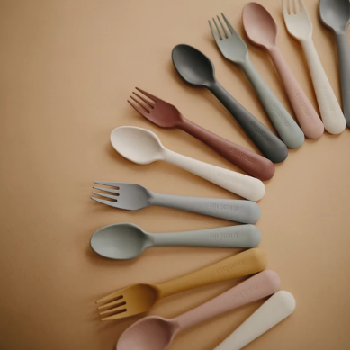 Feeding Spoons 2-Pack | Blush/Sand