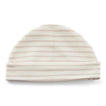 Organic Cotton Knit Beanie | Stripes Away Petal