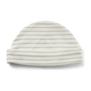 Organic Cotton Knit Beanie | Stripes Away Pebble