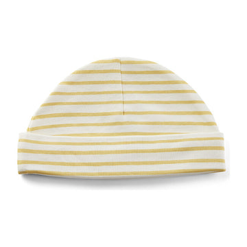 Organic Cotton Knit Beanie | Stripes Away Marigold