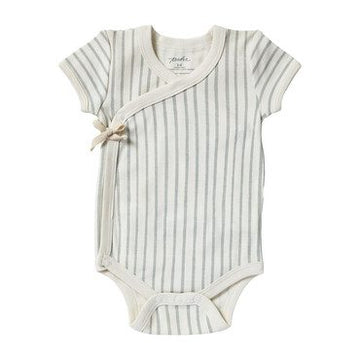 Stripes Away Short Sleeve Kimono Onesie