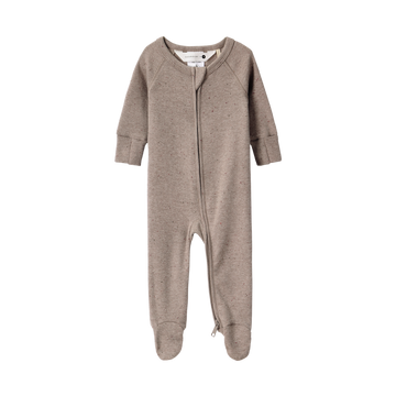 Organic Zip Growsuit | Mushroom Speckled