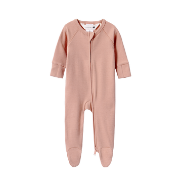 Organic Zip Growsuit | Tan