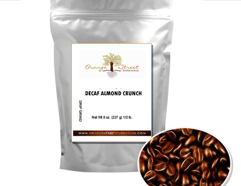 DECAF ALMOND CRUNCH FLAVORED COFFEE