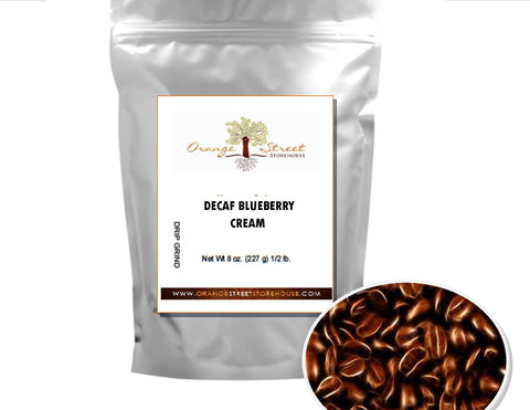 DECAF BLUEBERRY CREAM FLAVORED COFFEE