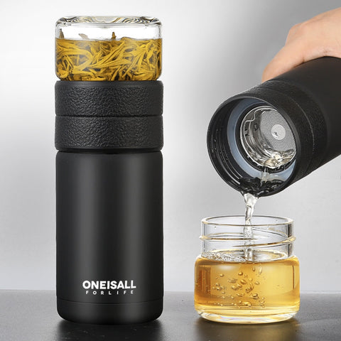 VACUUM FLASK W/ TEA INFUSER