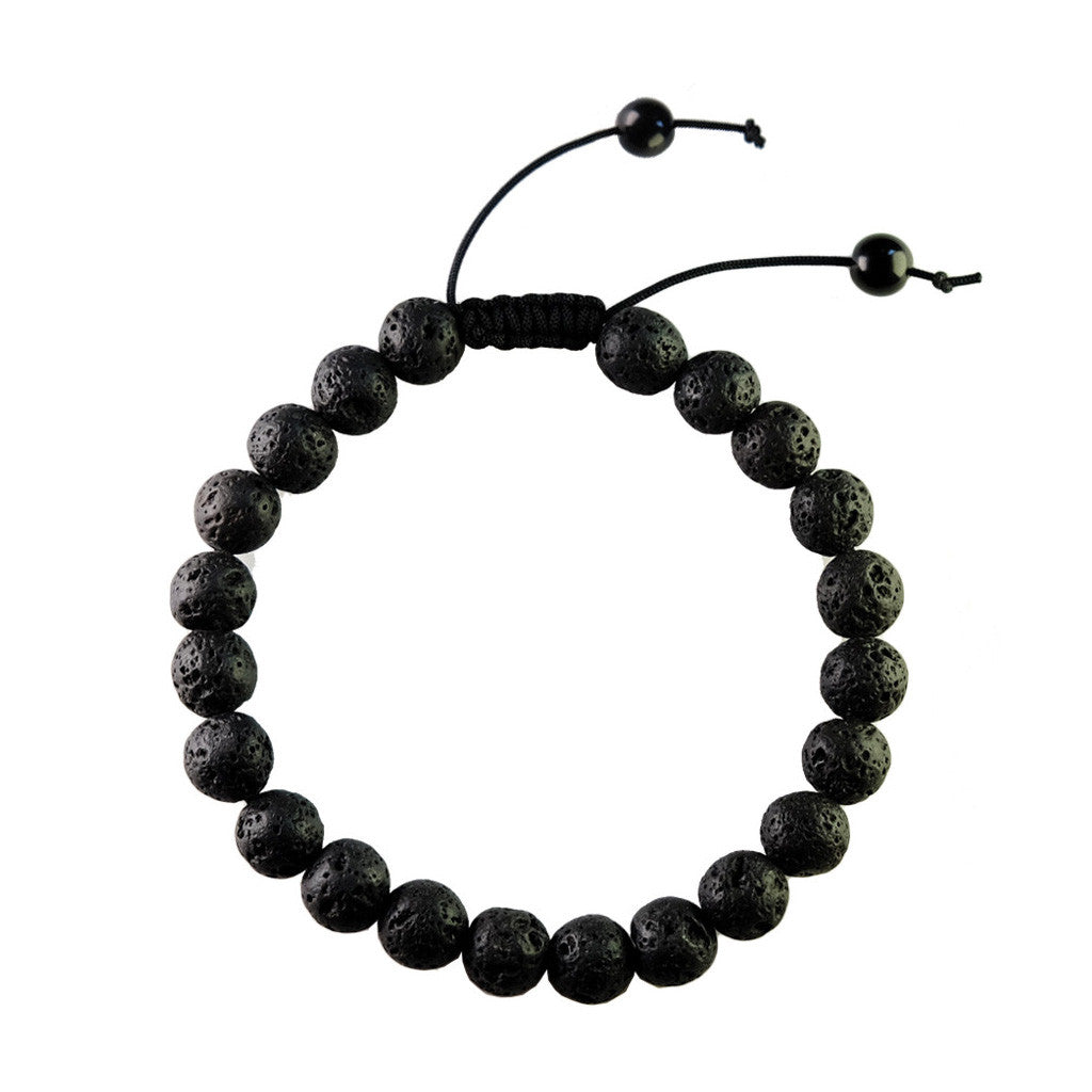 The Armstrong Lava Bead Bracelet, Rope