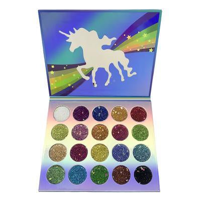 Glamierre-Unicorn sparkle glitter eye shadow palette