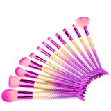 Mermaid Make Up Brush Set-12 Piece