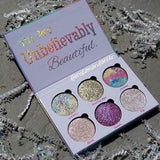 LOVE LUXE BEAUTY FANTASY Drenched Powder Eyeshadow Palette Glitter Glow Make-Up