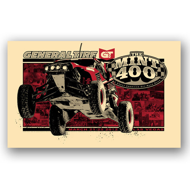 2012 Official Mint 400 Poster