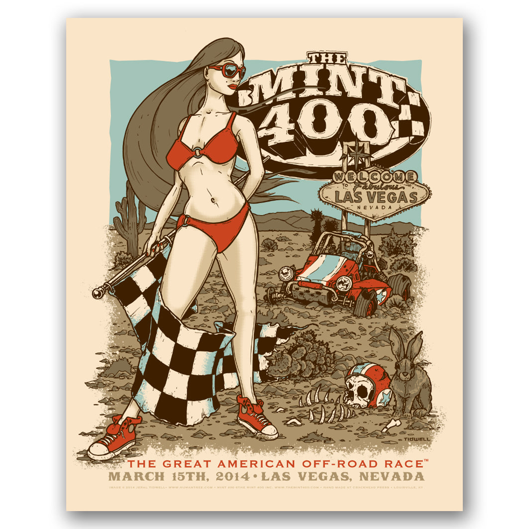 2014 Official Mint 400 Fine Art Print