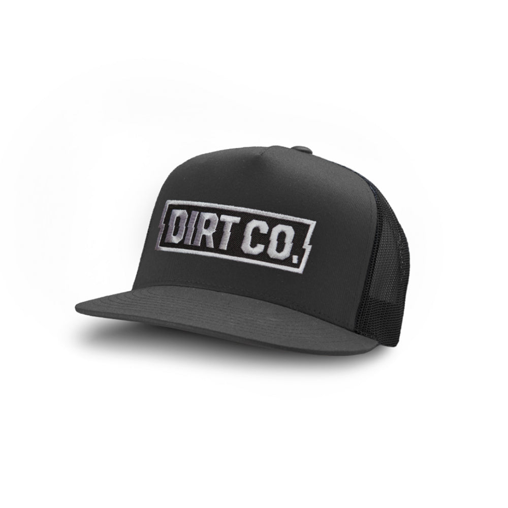 Rocker Snap Back Twill Hat (Charcoal/Black)
