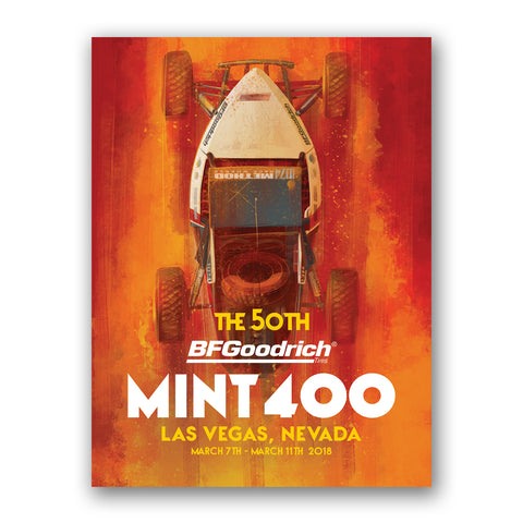 2018 Official Mint 400 Poster - Broc Dickerson