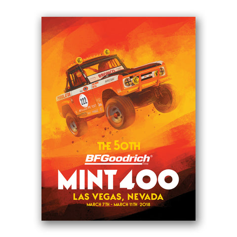 2018 Official Mint 400 Poster - Rod Hall