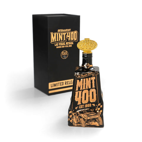 2020 Mint 400 Decanter Filled with City Lights Moonshine (Reservation) - Gold Variant