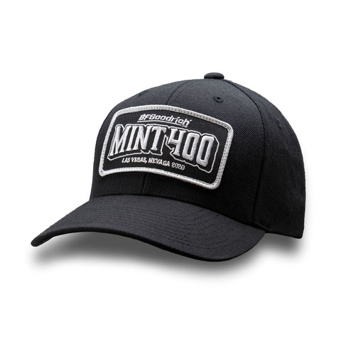 2020 Mint 400 Everlast Patch Hat - 6 Panel Curved Twill Bill (Black)