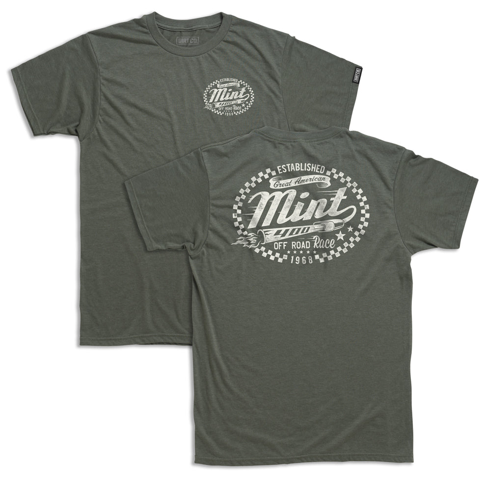 Mint 400 Loud Pipes T-Shirt (Heather Olive Green)