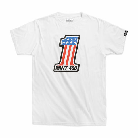 Mint 400 Podium T-Shirt (White)