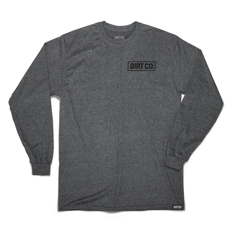 "DIRT CO. ""ROCKER"" Long Sleeve T-shirt (Gray)"