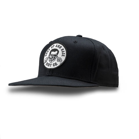 Shut Up And Race Snap Back 6 Panel Twill Hat (Black)