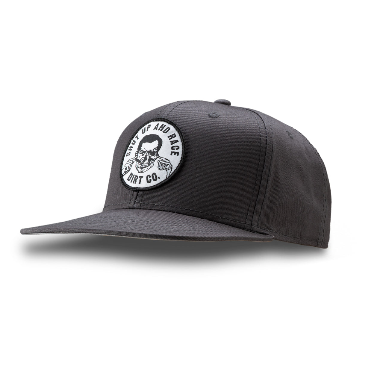 Shut Up And Race Snap Back 6 Panel Twill Hat (Gray)