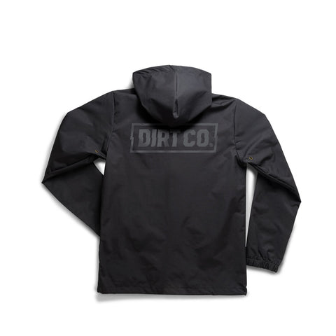 Dirt Co. Black Out Rainbreaker Water Resistant Jacket