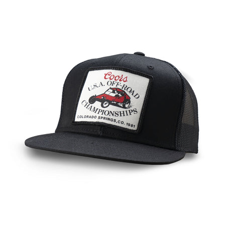 Dirt Co. 1981 Coors U.S.A. Off-Road Championships Colorado Vintage Patch Hat (Black/ Black Mesh)