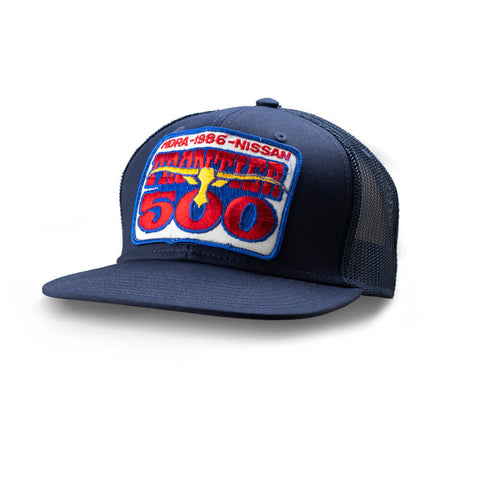 Dirt Co. 1986 HDRA Nissan Frontier 500 Vintage Patch Hat (Black/ Black Mesh)