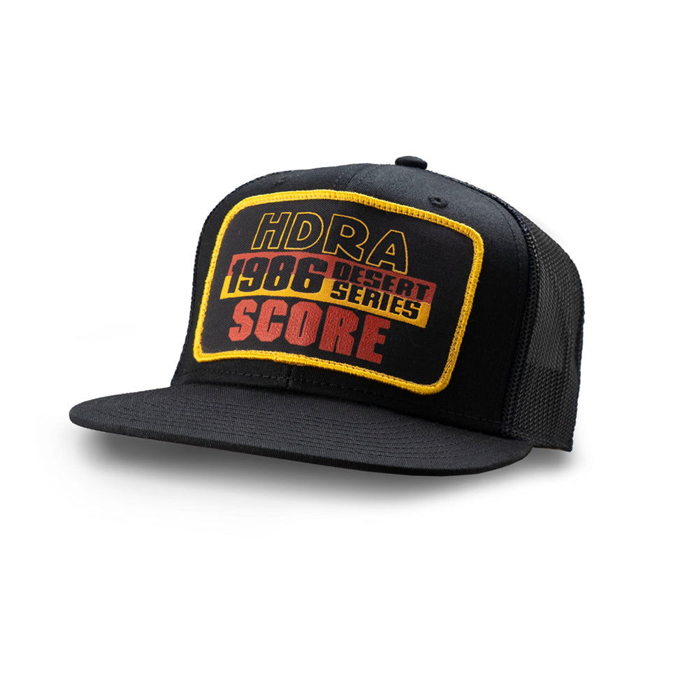 Dirt Co. 1986 HDRA SCORE Desert Series Vintage Patch Hat (Black/ Black Mesh)