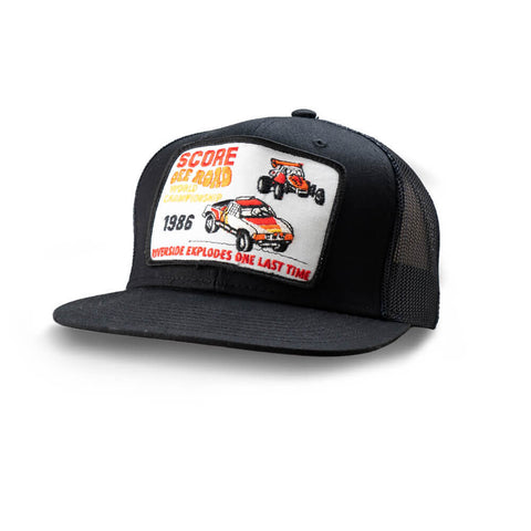 Dirt Co. 1986 SCORE Off Road World Championship Riverside Vintage Patch Hat (Black/ Black Mesh)