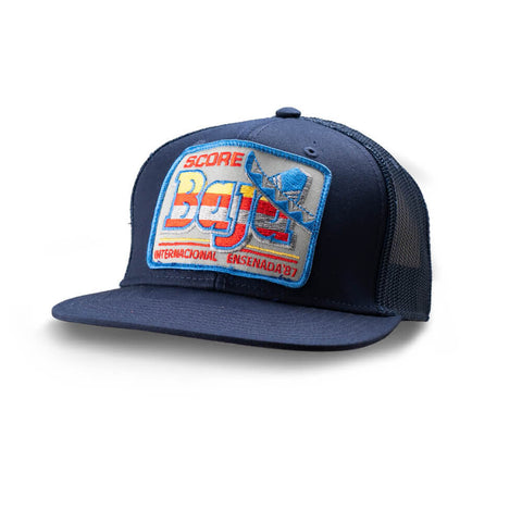 Dirt Co. 1987 SCORE Baja Internacional Vintage Patch Hat (Navy/ Navy Mesh)