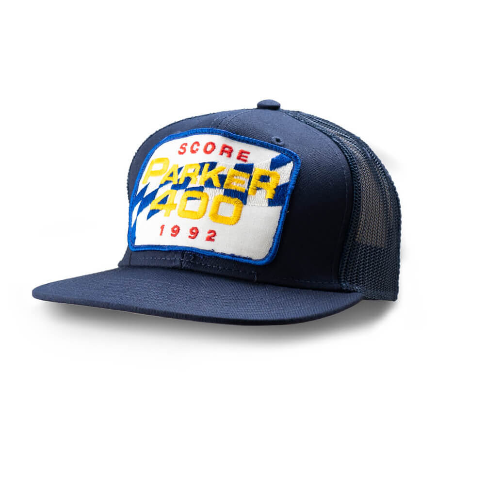 Dirt Co. 1992 SCORE Parker 400 Vintage Patch Hat (Navy/ Navy Mesh)