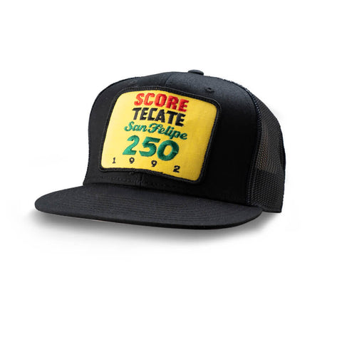 Dirt Co. 1992 SCORE Tecate San Felipe 250 Vintage Patch Hat (Black/ Black Mesh)