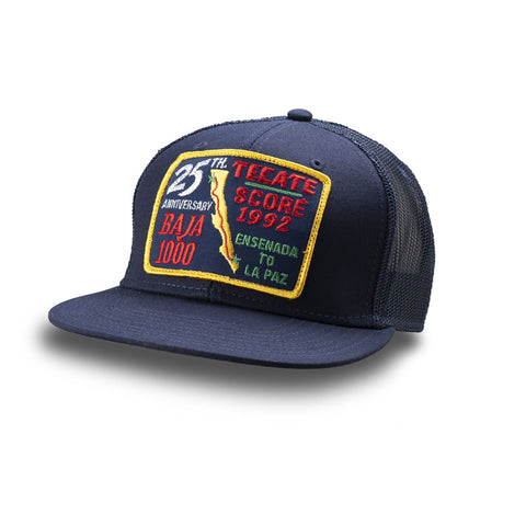 Dirt Co. 1992 Tecate SCORE 25th Anniversary Baja 1000 Vintage Patch Hat (Navy/ Navy Mesh)