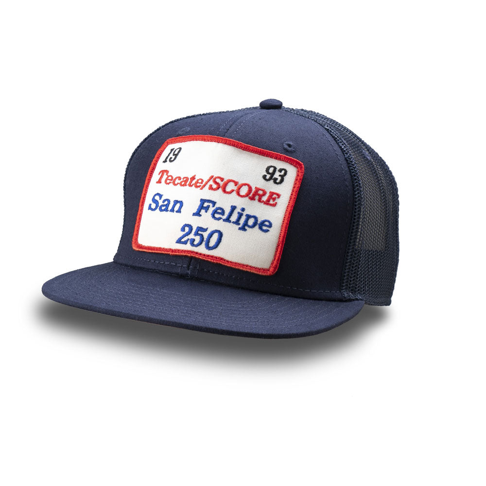 Dirt Co. 1993 Tecate SCORE San Felipe 250 Vintage Patch Hat (Navy/ Navy Mesh)