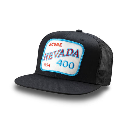 Dirt Co. 1994 SCORE Nevada 400 Vintage Patch Hat (Black/ Black Mesh)