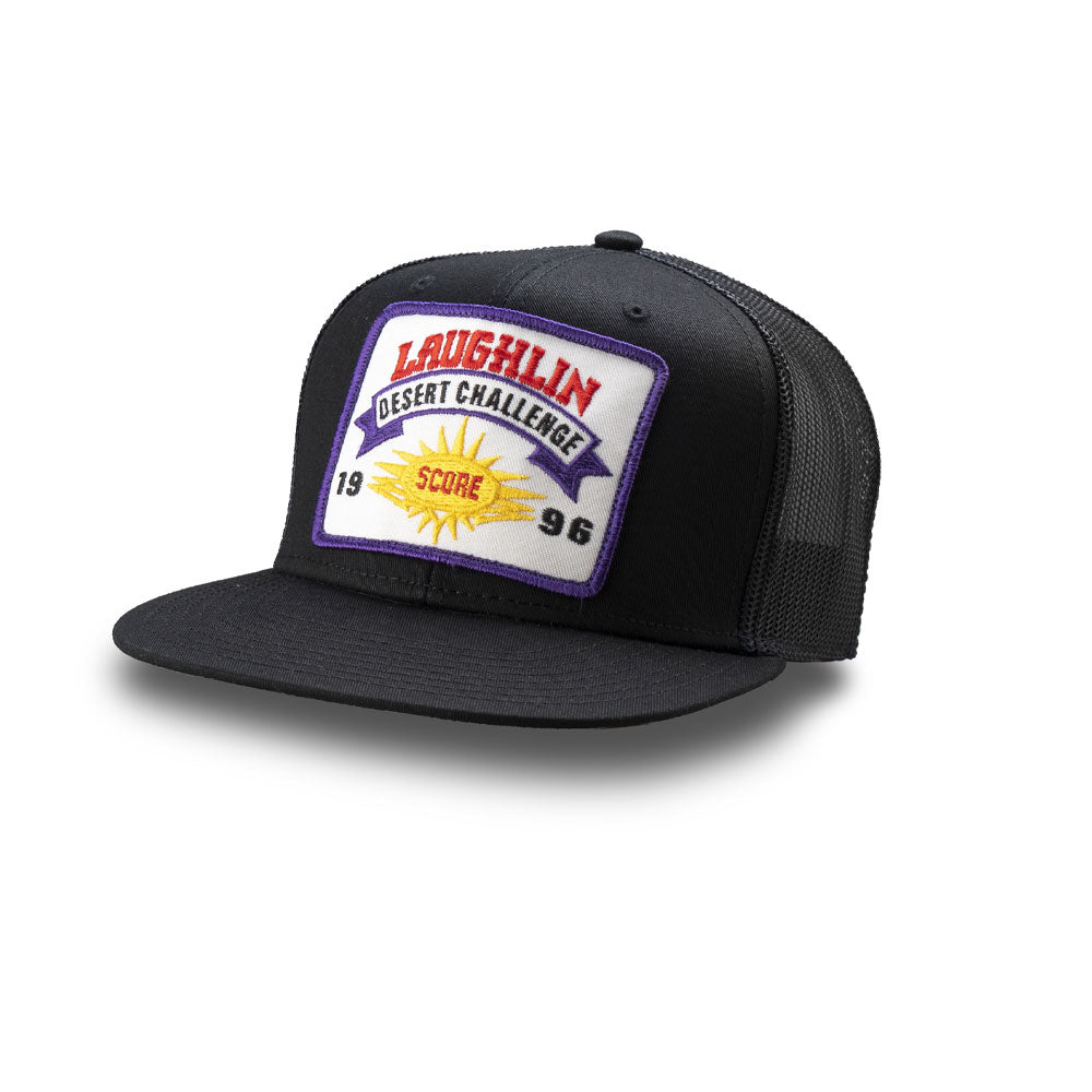 Dirt Co. 1996 SCORE Laughlin Desert Challenge Vintage Patch Hat (Black/ Black Mesh)